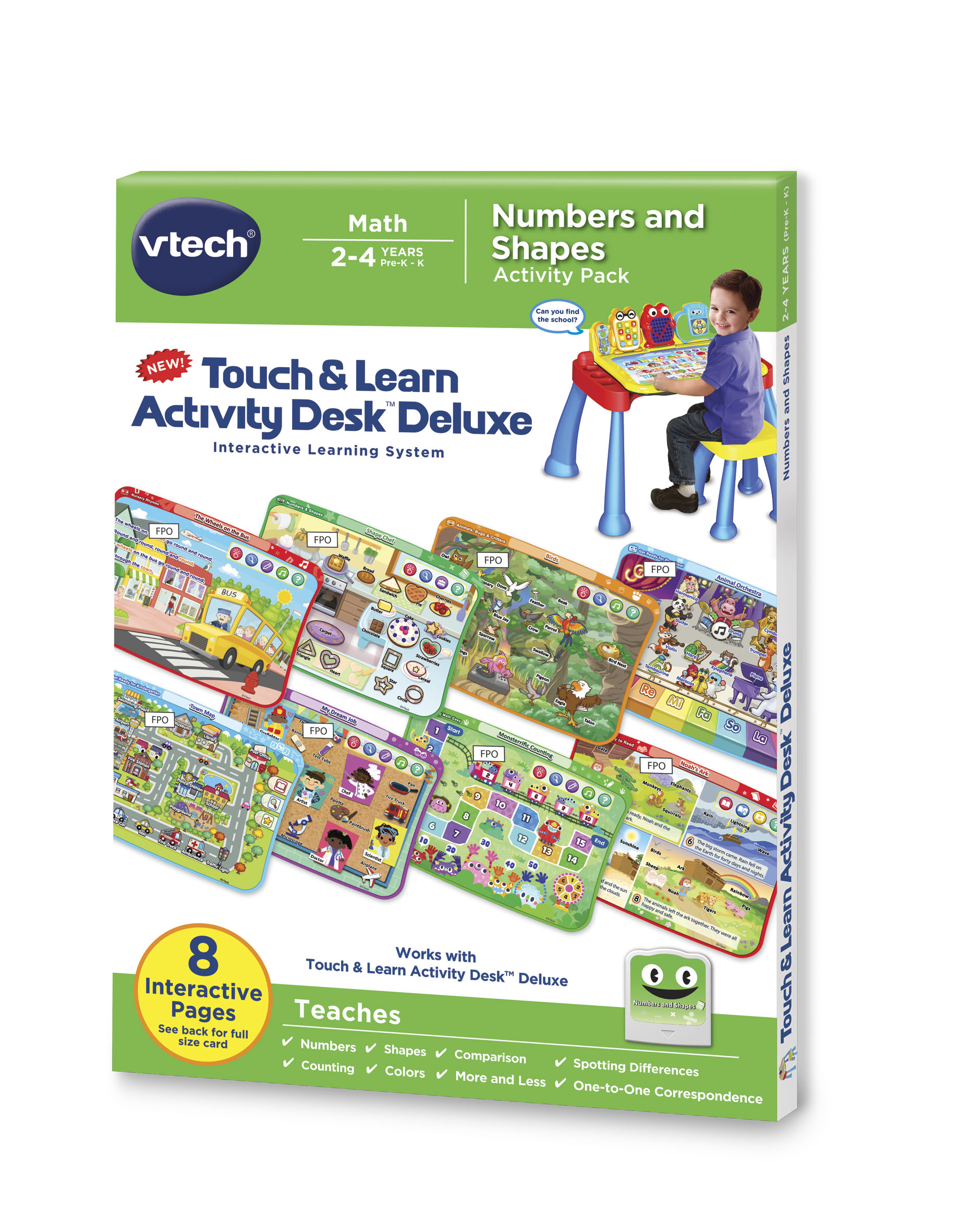 Activity Desk Deluxe - Numbers and Shapes